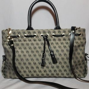 Dooney & bourke satchel with crossbody handle